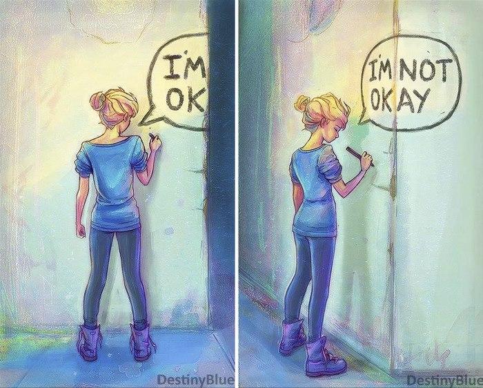 17 Ilustrasi Karya Seniman Penderita Depresi Ini Simpan Makna Men