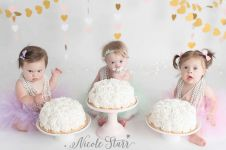 Lahir berpenyakit jantung, ini potret haru 3 bayi rayakan ultah bareng