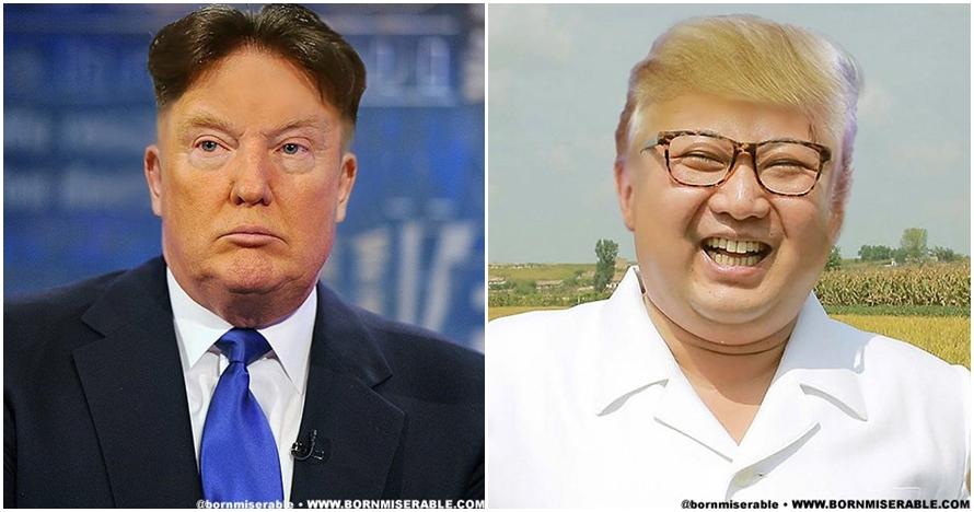 Begini jadinya jika Trump tukeran rambut sama Jong-un, bikin ngakak