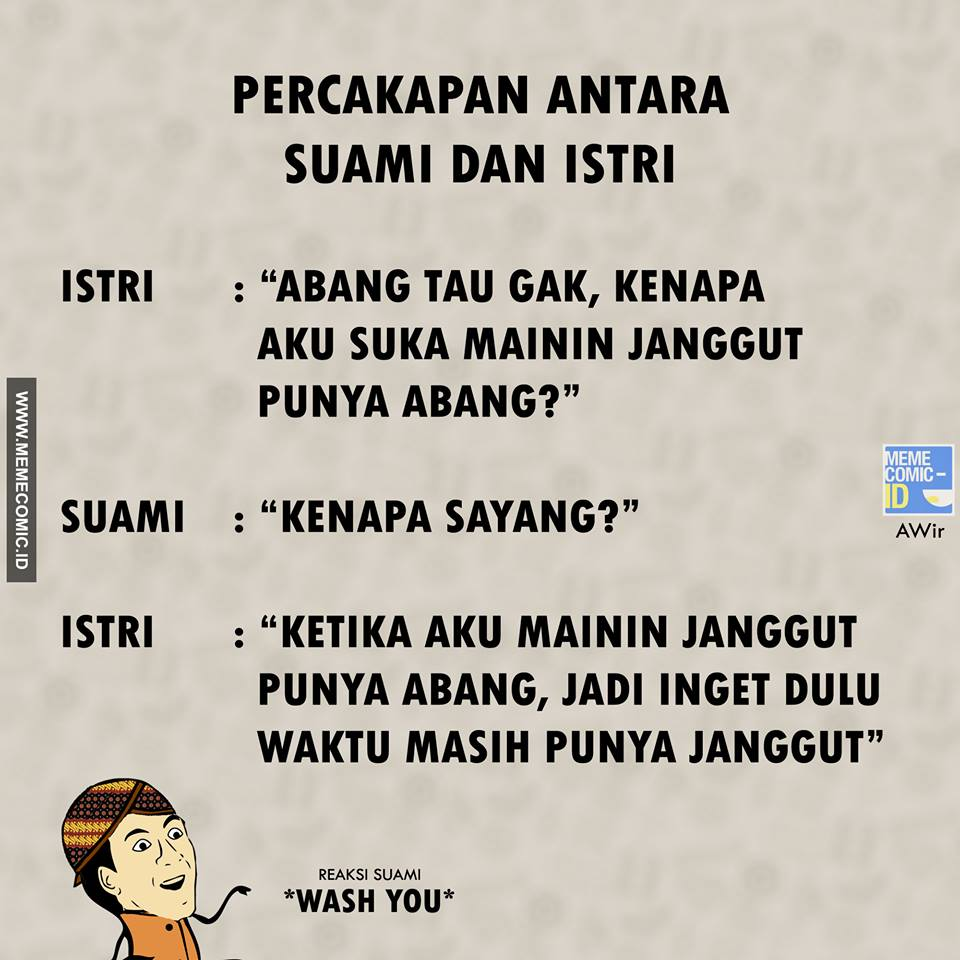 Obrolan Suami Istri  © 2017 Meme Comic Indonesia