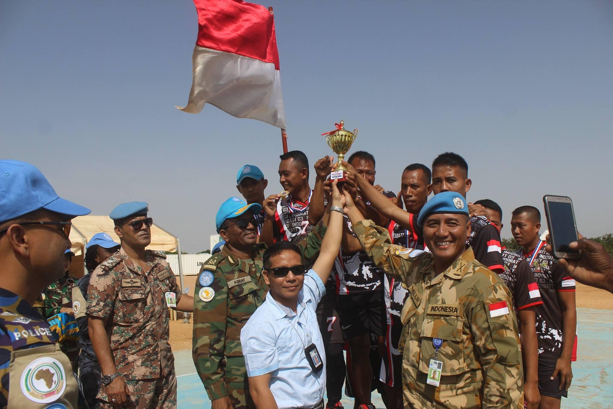 Pasukan Perdamaian TNI juara Pekan Olah Raga Unamid 2017 di Sudan
