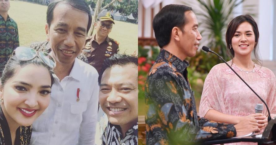 Ini gaya 7 seleb Tanah Air saat foto bareng Jokowi, siapa paling kece?