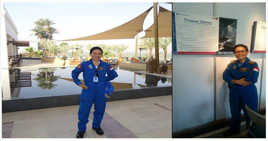 8 Foto Esther Gayatri Saleh, pilot penerbangan perdana pesawat N219