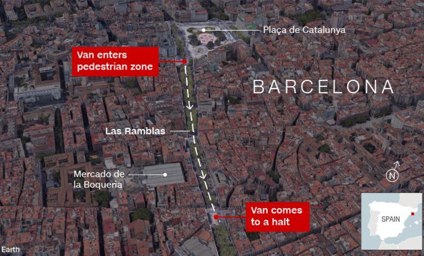 fakta teror di barcelona © 2017 berbagai sumber