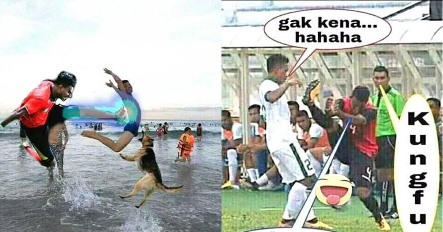 10 Foto editan tendangan Filipe Timor Leste ini lucu banget