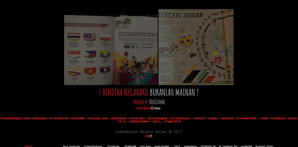Indonesian Hackers Attack Malaysian Sites After SEA Games