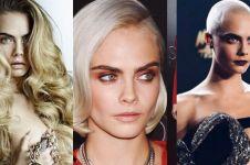 10 Gaya rambut nyentrik Cara Delevingne, pernah botak lho