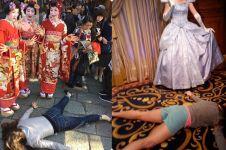 15 Aksi protes swafoto ini nggak lazim, posenya gokil banget