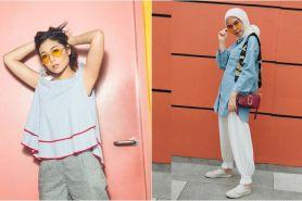 7 Gaya fashionista coba tren kacamata lensa kuning, siapa favoritmu?
