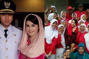 10 Foto kegiatan Arumi Bachsin, istri bupati yang dekat sama warganya