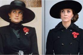 15 Foto ini bukti Putri Diana & Kate Middleton selera fashionnya sama