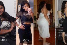 Bukti kerja keras, 15 cewek ini sukses ubah tubuh gendut jadi seksi