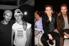 10 Potret kedekatan David Beckham & anaknya Brooklyn, kayak kakak adik