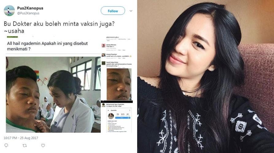5 Gaya selfie Estelita, wanita mirip di foto dokter cantik yang viral