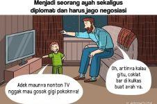 12 Komik strip pengorbanan ayah ke anaknya, jadi kangen pelukan bapak