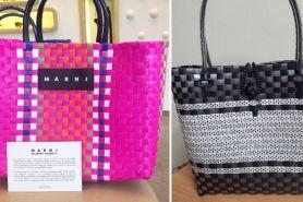 Mirip keranjang belanja untuk ke pasar, harga tas ini bikin tercengang