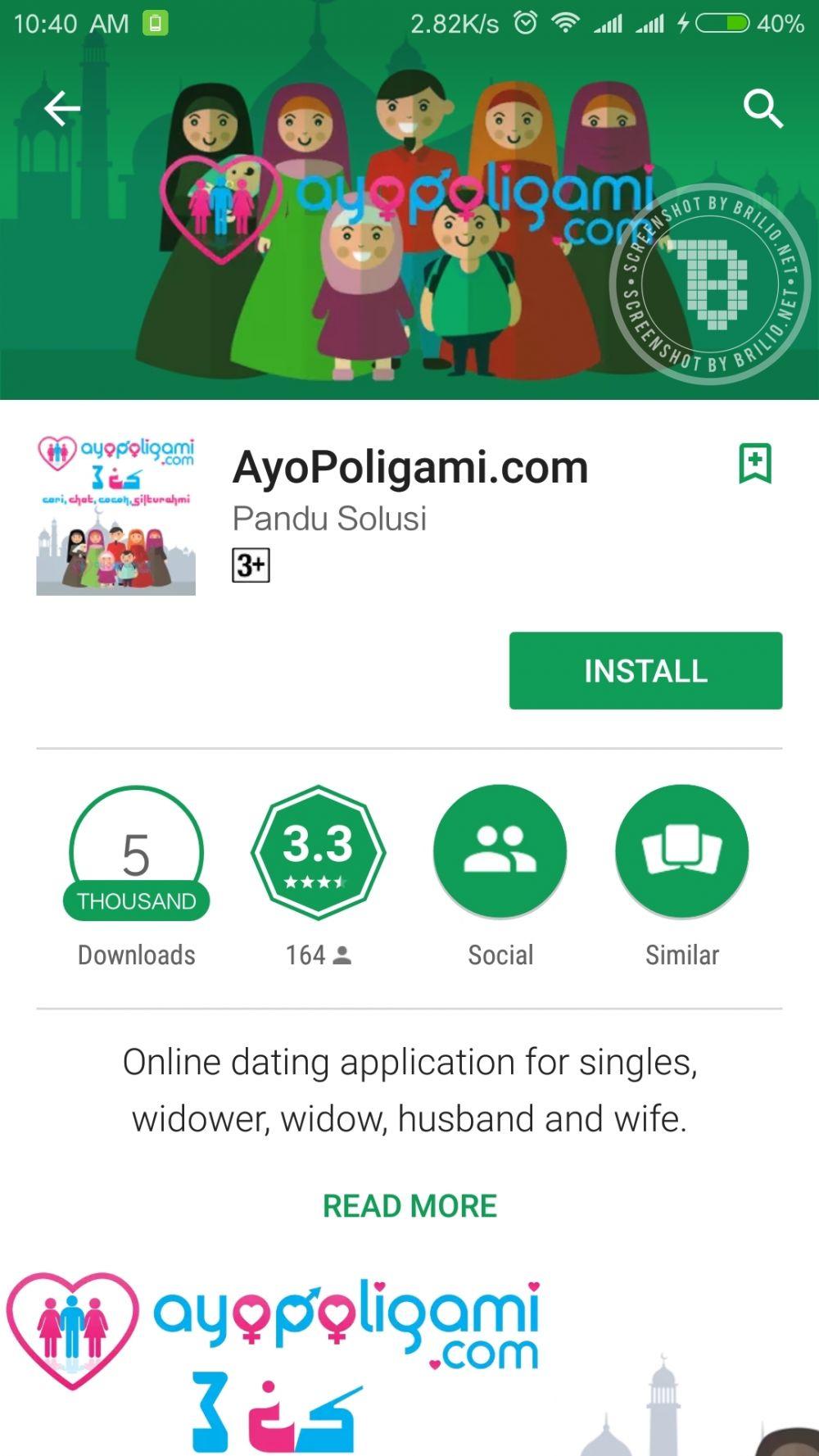 fakta aplikasi ayopoligami © 2017 brilio.net