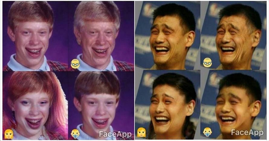 Begini jadinya saat wajah 12 tokoh meme diedit FaceApp, dijamin ngakak