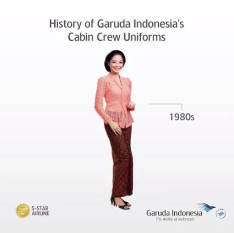 Fashion transformation of garuda indonesia through many years 6 stopboris Choice Image