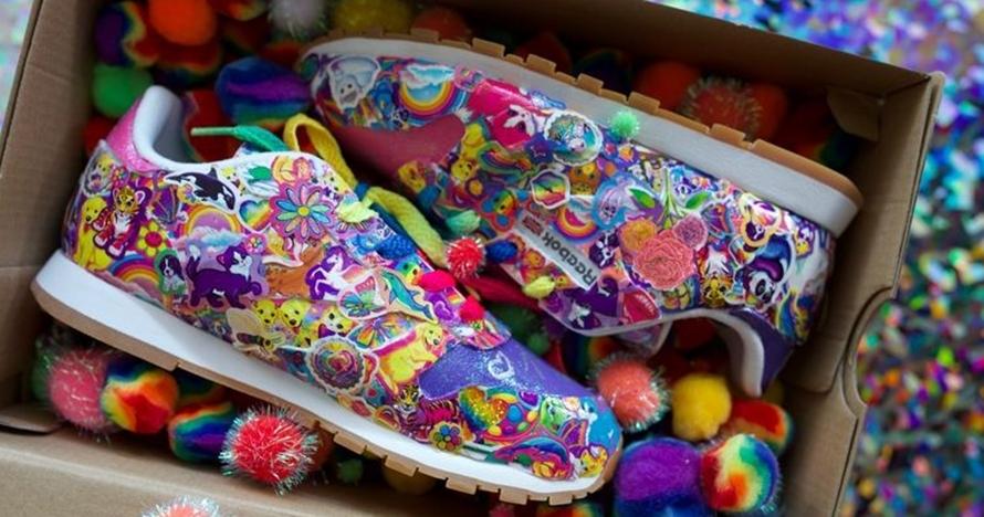 Lisa Frank ajak Reebok rilis rainbow sneaker ala sepatu klasik 90-an