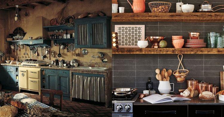 20 Desain rak kayu lawasan buat dapur rumahmu, bikin betah masak nih