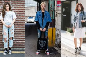 12 Inspirasi fashion Korea serba denim, bikin tampilanmu makin swag