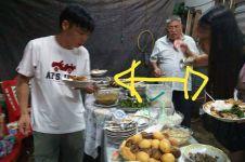 Mengira rumah makan, turis ini santai lahap hidangan acara Kebaktian