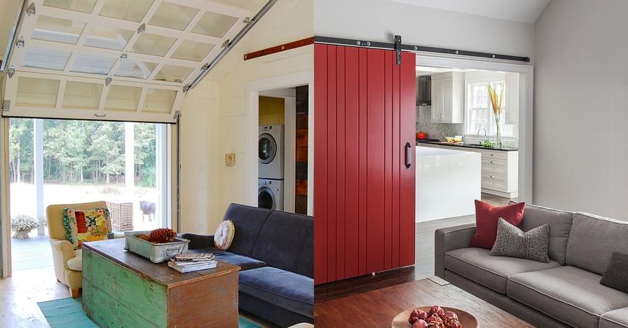 12 Desain ruang tamu pakai pintu geser, cocok buat rumah minimalis