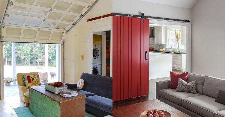 Desain Rumah Minimalis Dapur Di Depan  12 desain ruang tamu pakai pintu geser cocok buat rumah