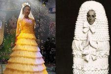 10 Gaun pengantin aneh, ada yang terbuat dari kondom