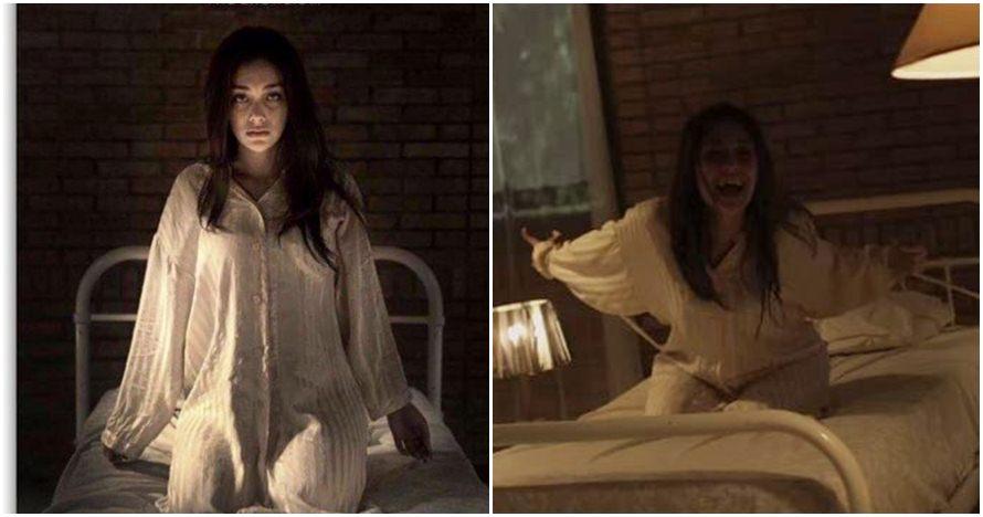 7 Gaya Celine Evangelista 'kesurupan' di film Ruqyah, bikin merinding!