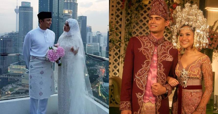 Sama-sama dinikahi pria Malaysia, yuk intip beda resepsi BCL & LCB