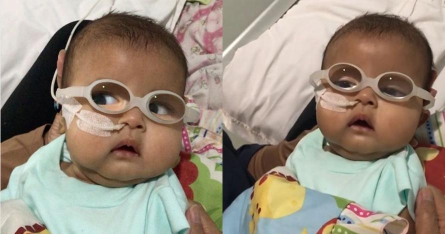 Begini kondisi terkini anak kedua Asri Welas usai operasi katarak