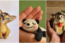 15 Boneka dari benang ini sempurnanya seperti binatang asli