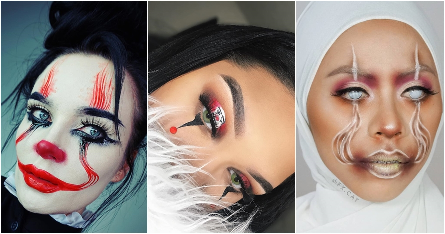 15 Makeup ala badut 'IT' ini ngehits di Instagram, kreatif abis deh