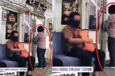 Video bukti kebrutalan penumpang KRL, ibu-ibu ini korbannya