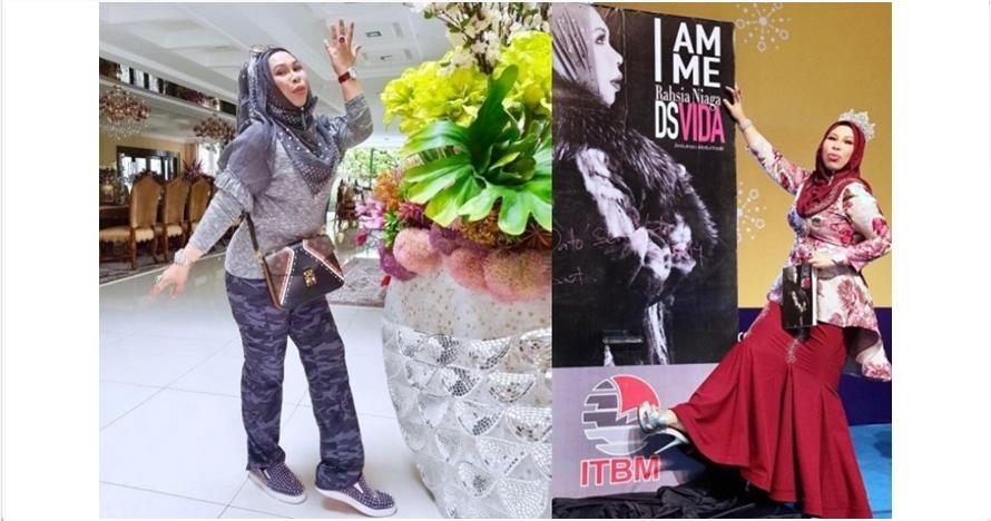 10 Gaya glamor hijaber sosialita Malaysia DS Vida, cetar abis