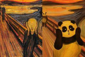 Begini jadinya jika karakter di 13 lukisan legendaris diganti panda