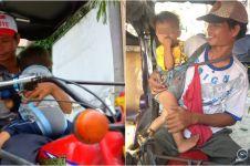 Kisah sopir angkutan roda tiga ajak anaknya bekerja ini bikin terenyuh