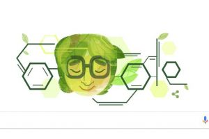 Siapa wanita dengan lambang molekul kimia di Google Doodle?