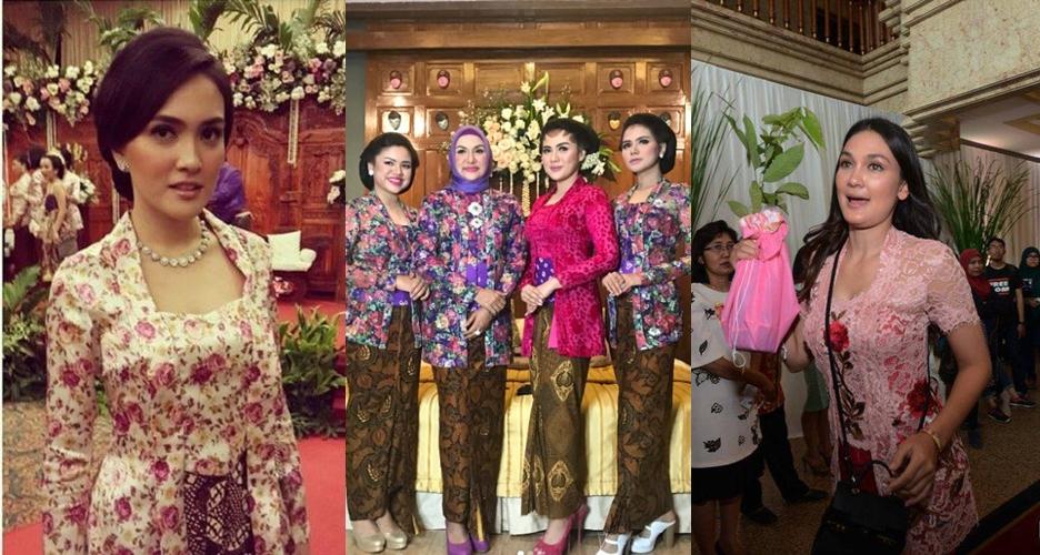 6 Seleb berkebaya kutubaru, sama cantik dengan bridesmaids Vicky Shu