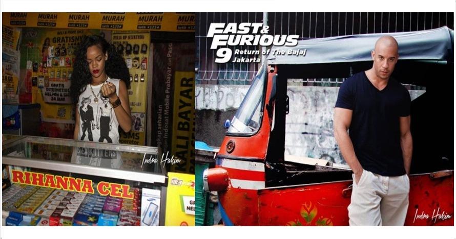 15 Foto editan kocak tapi ngawur seleb Hollywood tinggal di Indonesia