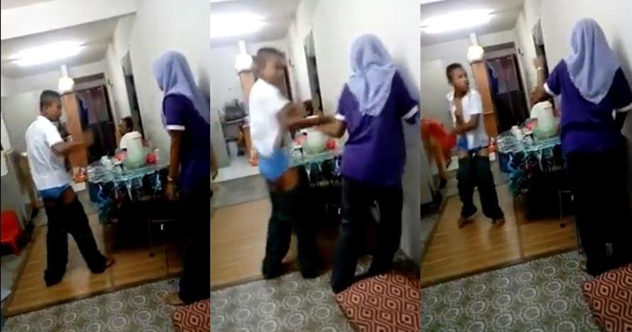 Jangan ditiru, remaja ini pukuli ibunya karena tak diberi uang