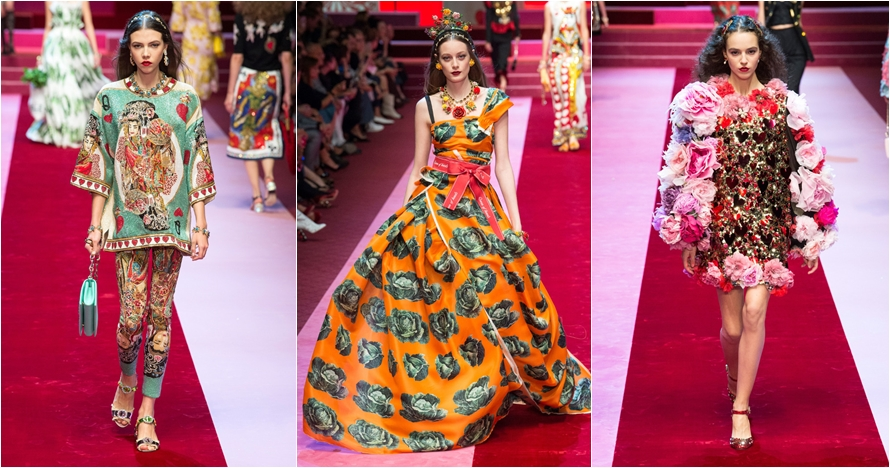 Intip koleksi Dolce & Gabbana Ready-To-Wear di Milan Fashion Week 2017