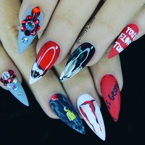 nail art tema film IT  © 2017 berbagai sumber