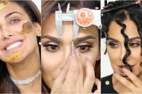 10 Beauty hack unik ala Huda Beauty, dari garpu sampai kulit pisang