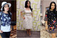 10 Gaya Titi Kamal, tetap modis dan langsing meski hamil tua