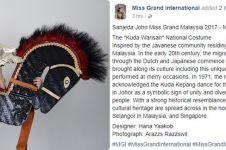 Heboh kostum Miss Grand Malaysia pakai kuda lumping, klaim lagi?
