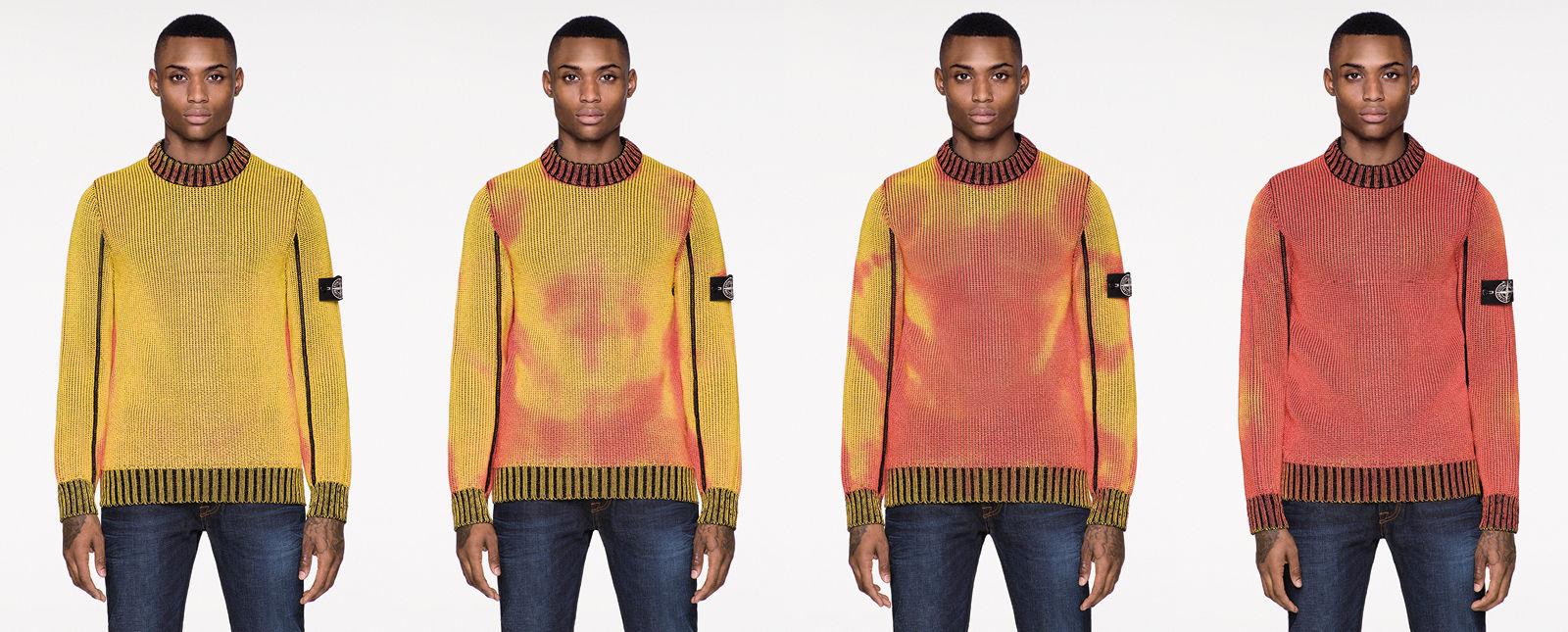 Dapat berubah warna sesuai suhu, harga sweater unik ini bikin melongo