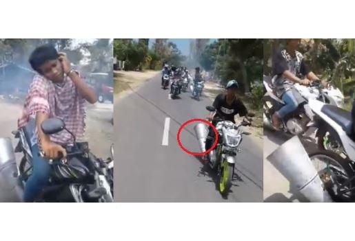 Video konvoi motor berknalpot corongan ini bikin bilang 'unfaedah bro'